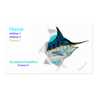 Bustin Out Marlin Card Business Cards