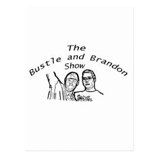 Bustle and Brandon Show Logo Postcard