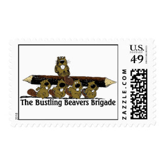 Bustling Bevers Brigade Stamps