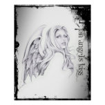 """Busto 16"""" de la cabeza del beso de un ángel"""" poste impresiones"""