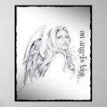 """Busto 16"""" de la cabeza del beso de un ángel x 20""""  posters"""