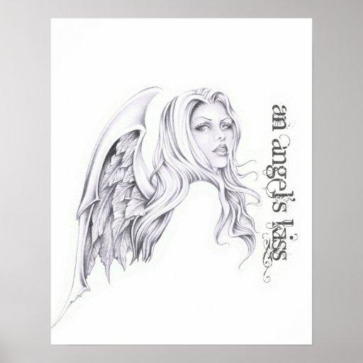 """Busto 16"""" de la cabeza del beso de un ángel x 20""""  impresiones"""