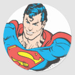 Busto 2 del superhombre pegatina redonda