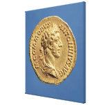 Busto aurífero de Commodus Impresion En Lona