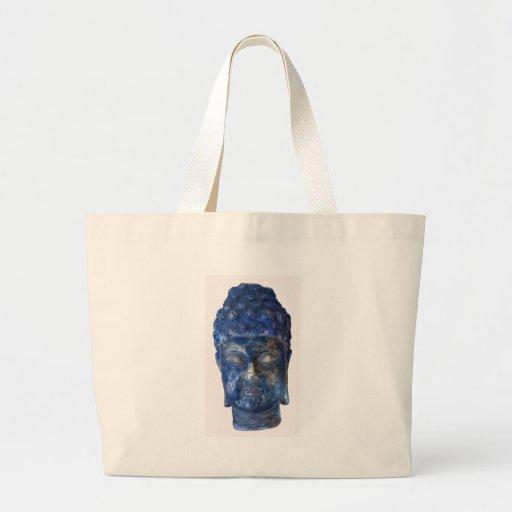 busto azul de la cabeza de la diosa bolsas de mano