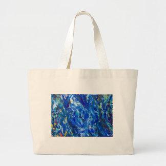 Busto azul (expresionismo abstracto) bolsa de mano