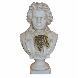 Busto clásico de Beethoven en una escultura de la  Fotoescultura Vertical