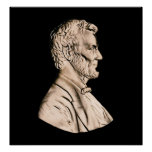 Busto de Abraham Lincoln Posters