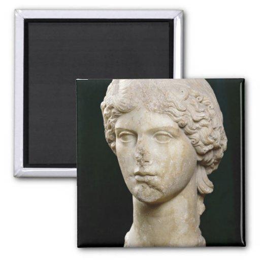 Busto de Agrippina el ANUNCIO de la anciano c.37-4 Imán Cuadrado
