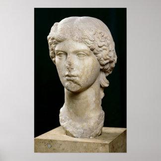 Busto de Agrippina el ANUNCIO de la anciano c.37-4 Póster
