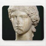 Busto de Agrippina el ANUNCIO de la anciano c.37-4 Alfombrillas De Ratones