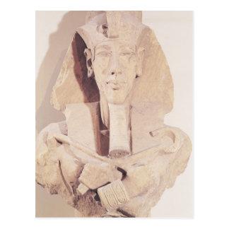 Busto de Amenophis IV del templo de Amun Postal