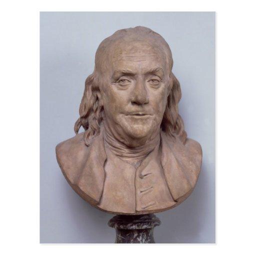 Busto de Benjamin Franklin 1778 Tarjetas Postales