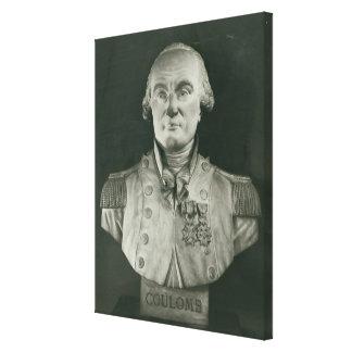 Busto de Charles de Coulomb Impresión En Lona