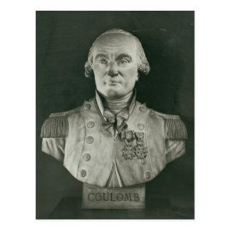 Busto de Charles de Coulomb Tarjeta Postal