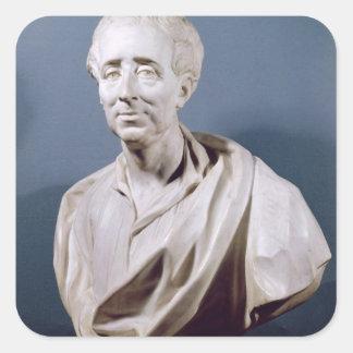 Busto de Charles de Secondat barón de Pegatina Cuadrada
