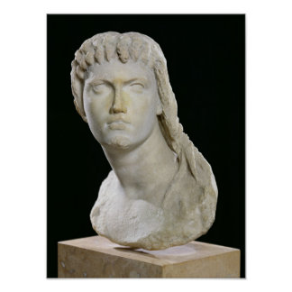 Busto de Cleopatra II o sus hijas Póster