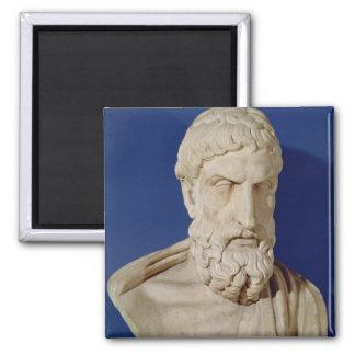 Busto de Epicurus Imán Cuadrado