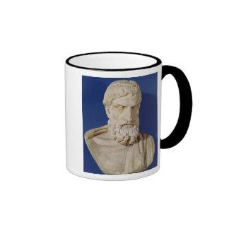 Busto de Epicurus Taza De Dos Colores