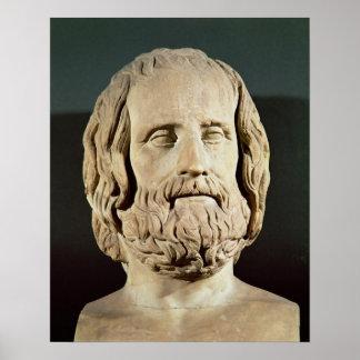 Busto de Eurípides Posters