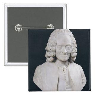 Busto de Francois Marie Arouet de Voltaire 1778 Pin Cuadrada 5 Cm