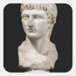 Busto de Germanicus Calcomanía Cuadradas
