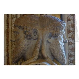 Busto de Jano, museos de Vatican Tarjeta Pequeña