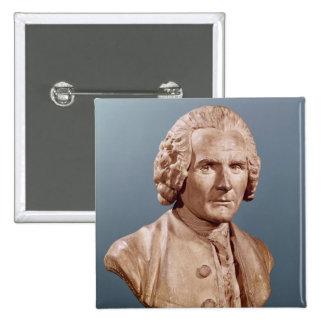 Busto de Jean-Jacques Rousseau Pin Cuadrada 5 Cm