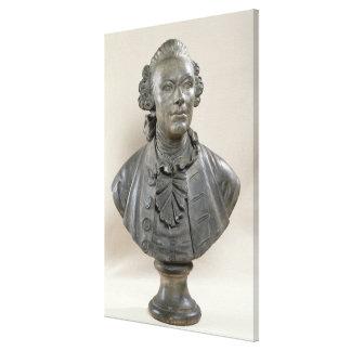 Busto de Johan Jorge Wille Impresion De Lienzo