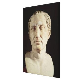 Busto de Julio César 2 Impresión En Lona Estirada