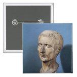 Busto de Julio César Pin Cuadrada 5 Cm