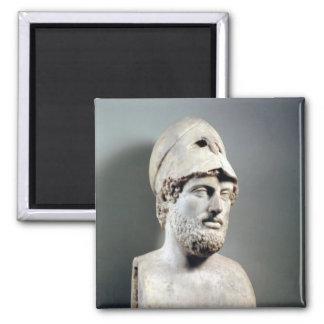 Busto de la copia de Pericles de una original grie Imán Cuadrado