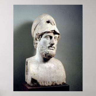 Busto de la copia de Pericles de una original grie Impresiones