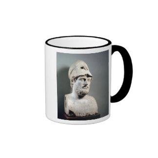 Busto de la copia de Pericles de una original grie Tazas De Café