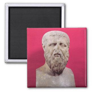 Busto de la copia de Platón del siglo IV de una or Imán Cuadrado