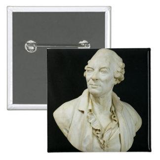 Busto de la cuenta de George Louis Leclerc de Buff Pin Cuadrado
