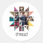 Busto de la estrella de ThreadShow Pegatina Redonda