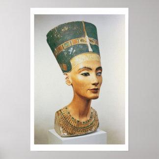 Busto de la reina Nefertiti, del estudio del sc Póster