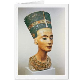 Busto de la reina Nefertiti, del estudio del sc Tarjeta De Felicitación