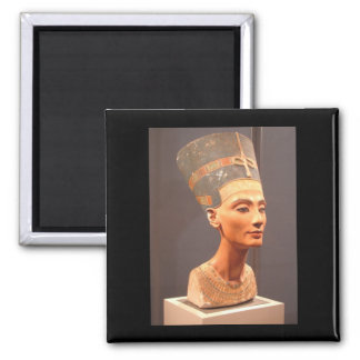 Busto de la reina Nefertiti Imán Cuadrado