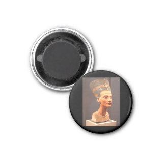 Busto de la reina Nefertiti Imán Redondo 3 Cm