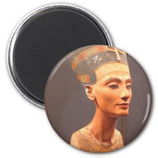 Busto de la reina Nefertiti Imán Redondo 5 Cm