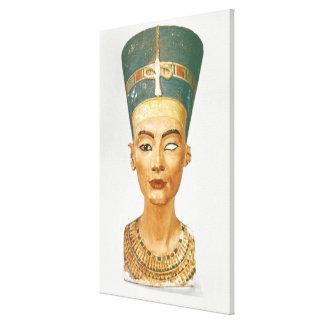 Busto de la reina Nefertiti vista delantera del Impresión En Lona
