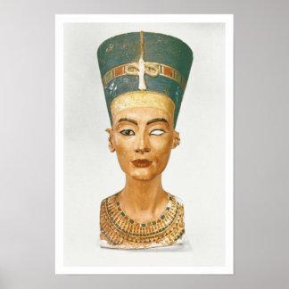 Busto de la reina Nefertiti, vista delantera, del  Póster