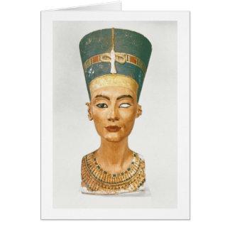 Busto de la reina Nefertiti, vista delantera, del  Tarjeta De Felicitación