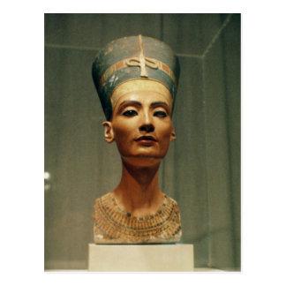 Busto de la reina Nefertiti, vista delantera Postales