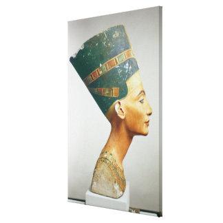 Busto de la reina Nefertiti vista lateral del st Impresiones En Lienzo Estiradas