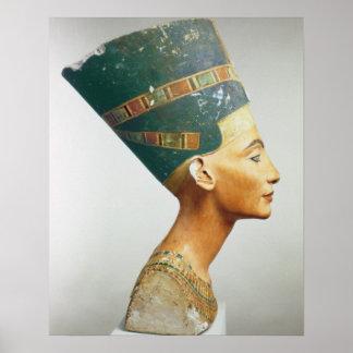 Busto de la reina Nefertiti vista lateral del st Posters