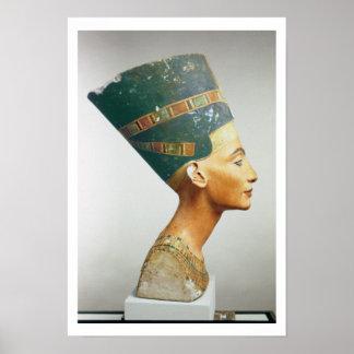 Busto de la reina Nefertiti vista lateral del st Impresiones
