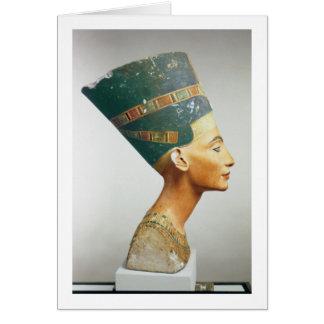 Busto de la reina Nefertiti, vista lateral, del st Tarjeta De Felicitación